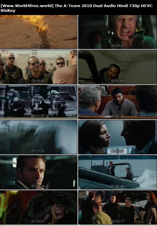 Screen Shoot of The A-Team 2010 Full Dual Audio Hindi 720p BluRay 650MB