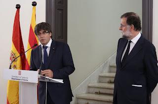Puigdemont i Rajoy, actors de la política catalana i espanyola