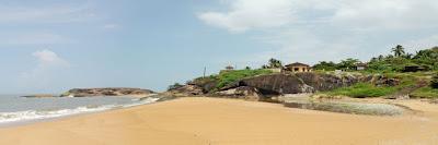 Someshwar beach near Ullal where the seaside stay is summer sands