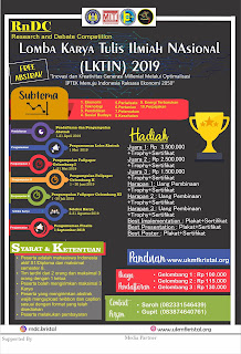Lomba Karya Tulis Ilmiah RnDC (Research and Debate Competition)