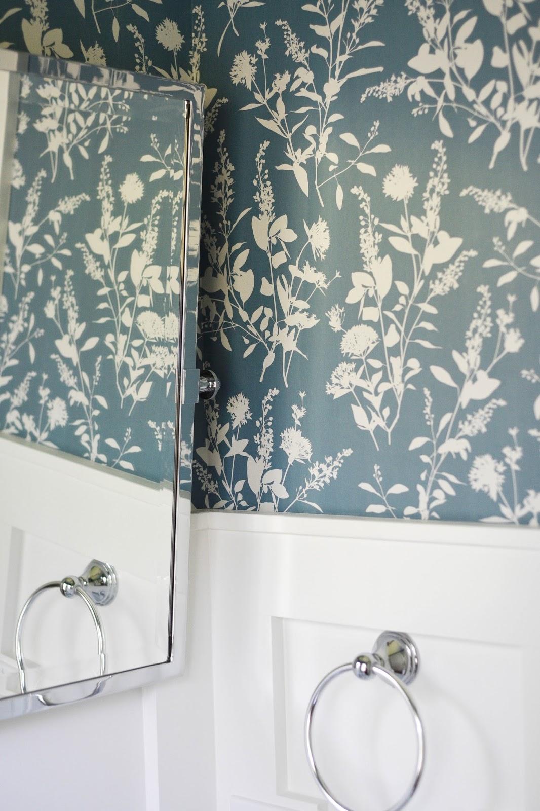 Wallpaper Powder Room - Home with Keki