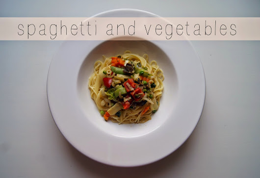 Spaghetti and Vegetables