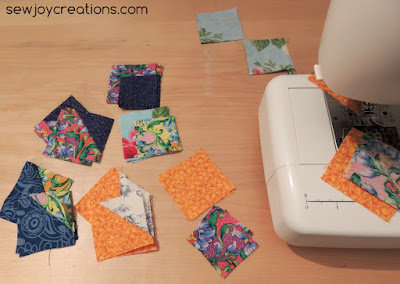 sea shell block units left to sew