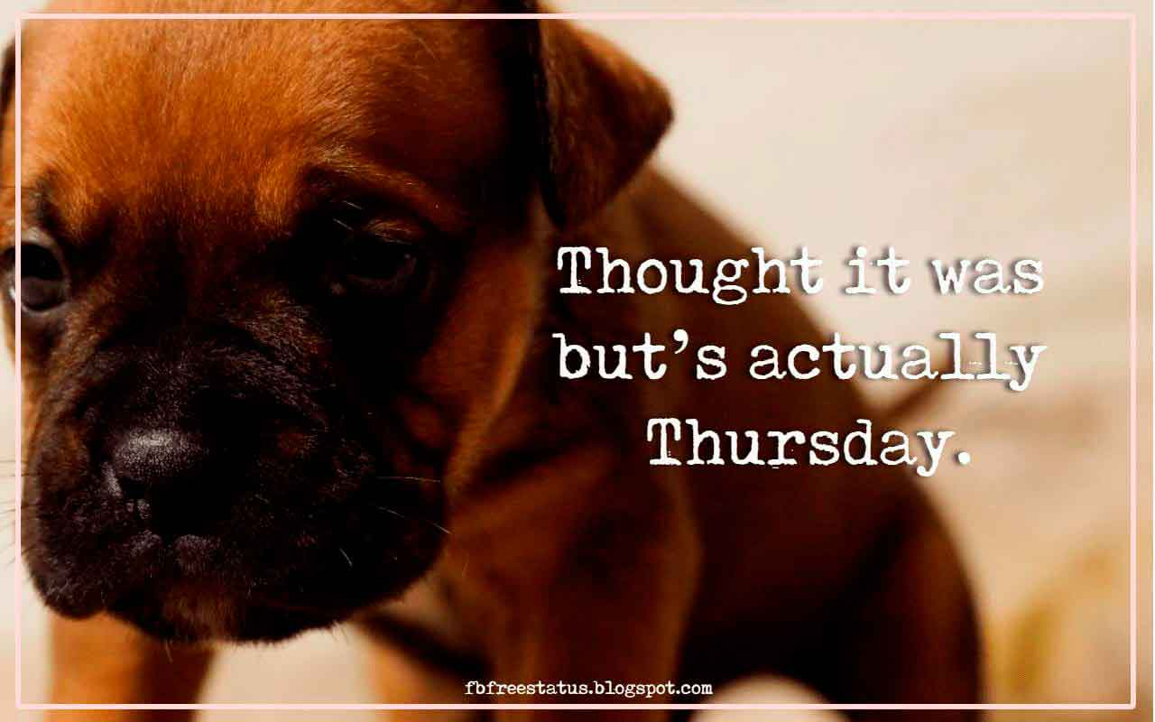 Thought it was but's actually Thursday.