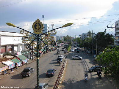 Main road through Surat Thani town
