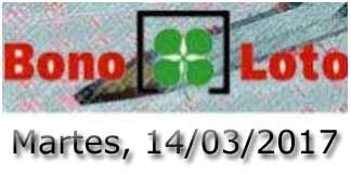 Bonoloto martes 14-03-2017
