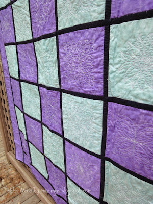 Reversible Embroidered Quilt, front side view