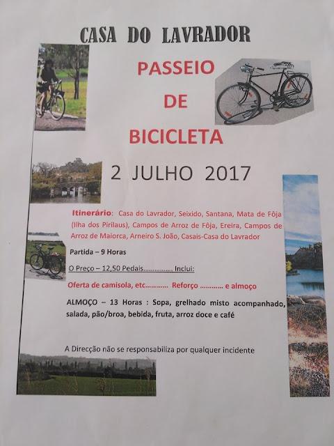 Passeio de Bicicleta da Casa do Lavrador