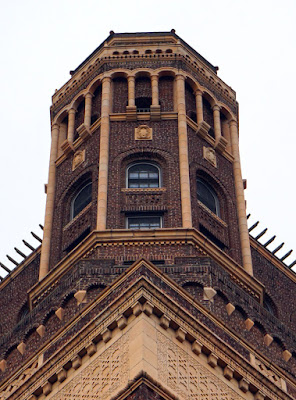 One of the towers on the Leverich Hotel