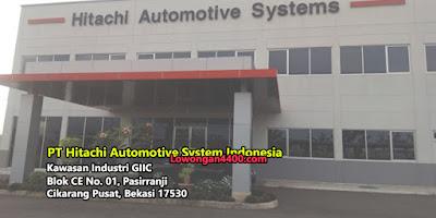 Lowongan Kerja PT. Hitachi Automotive System Indonesia Kawasan GIIC