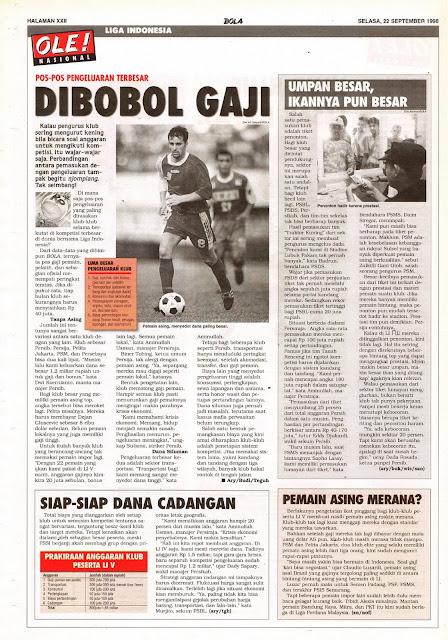 PENGELUARAN TERBESAR KLUB LIGA INDONESIA