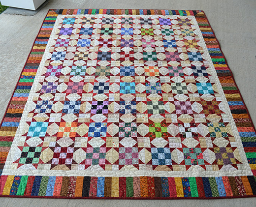Scrappy Sister's Choice Quilt Free Pattern