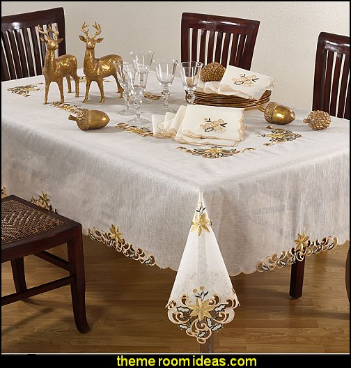 Embroidery & Cutwork Tablecloth  Merry Christmas tablecloth