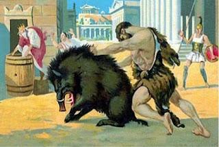 mito de hercules heracles jabali de erimanto