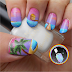 Freehand Summer Sunset Beach & Hut Nail Art