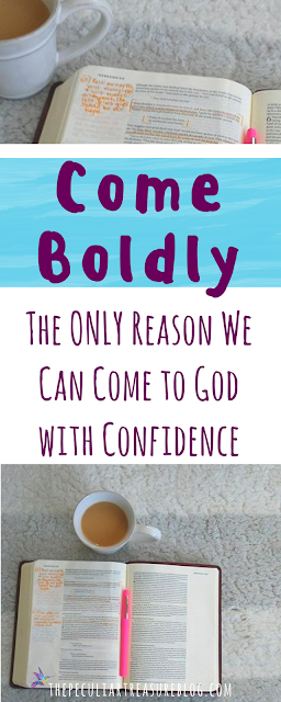 We can come to God and approach Him with confidence, thanks to Jesus! #faith #biblestudy #Christianity