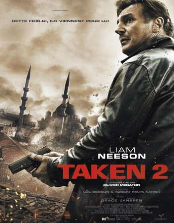 Poster Of Taken 2 2012 English 450MB EXTENDED BluRay 720p ESubs HEVC Free Download Watch Online downloadhub.in