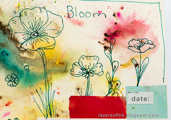 Layers of ink - Tape It Up journal page by Anna-Karin Evaldsson