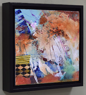 square colorful abstract acrylic