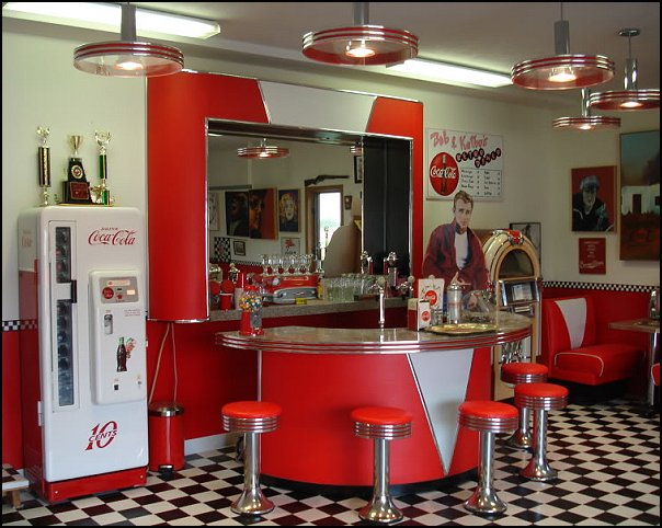 50s bedroom ideas   50s theme decor   1950s retro decorating style   50s  diner. Decorating theme bedrooms   Maries Manor  Retro