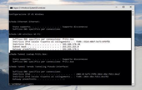 Funzioni prompt comandi Windows 10: selezione testo e copia incolla