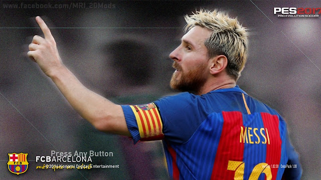 PES 2017 Messi Start Screen by MRI_20