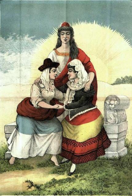 Ilustración publicada en el semanario El Motín (9-3-1890) con el siguiente pie: «Lo que ha de unir a España y Portugal»