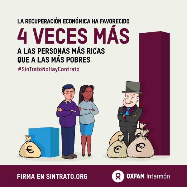 Resultado de imagen de crisis ha favorecido a los ricos cuatro veces más que a los pobres