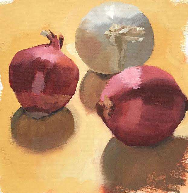 still life study of onions Mar-7-2019
