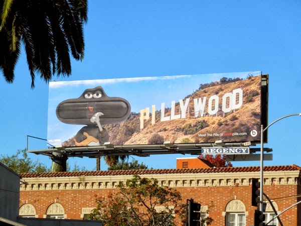 Pillywood Beats Pills speakers billboard