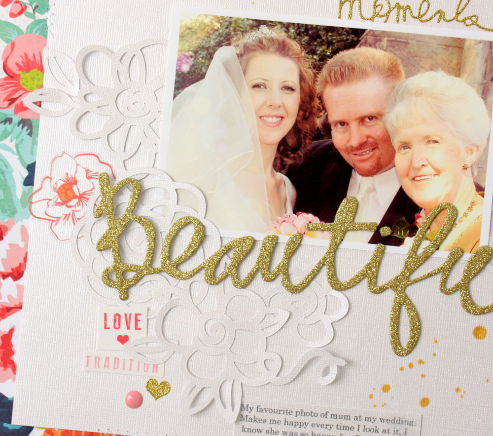 Beautiful Scrapbook Page by Kim Jeffress for 17turtles Digital Cut Files