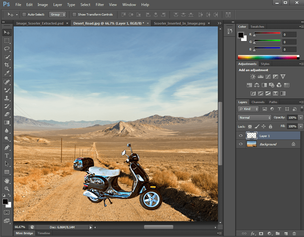 how to add a person into a photo in photoshop
