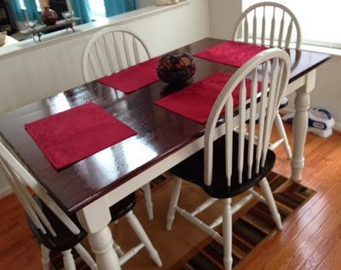 Best kitchen table and chairs makeover