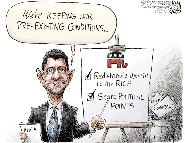 Paul Ryan at easel pointing to reasons for Republican