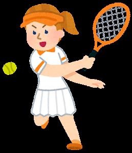 テニス選手のイラスト(白人女性)