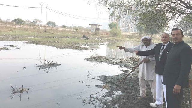 Disturbed by disturbing sewage dirty water in Greater Faridabad