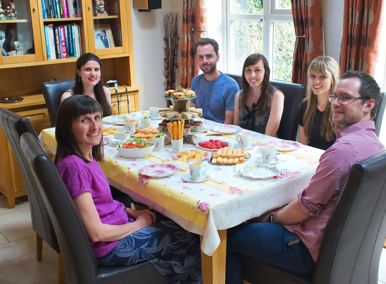 Guests sat at the table at our DIY British afternoon tea in collaboration with Talking Tables