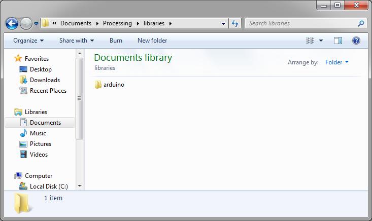 Processing library biblioteca