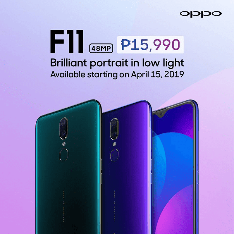 OPPO F11 with more affordable price is coming to the Philippines on April 15!