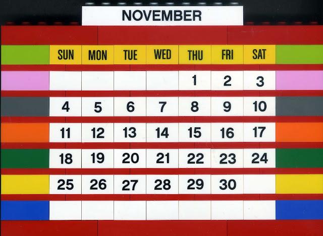 MOC Calendário LEGO mês de novembro