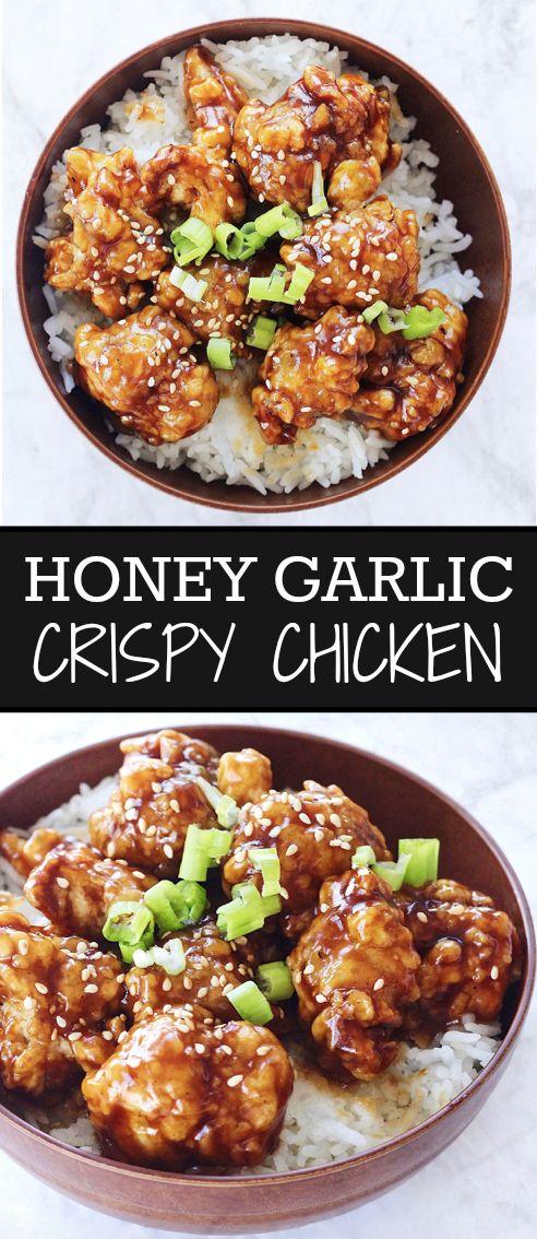 The Perfect Honey Garlic Crispy Chicken