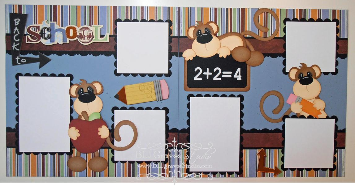 Double Page Scrapbook Layouts Www Picswe Com
