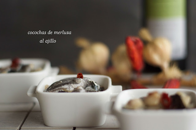 receta de cocochas de merluza al ajillo