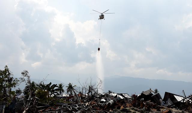 Kogasgabpad Lakukan Penyemprotan Disinseksi Melalui Udara di Kota Palu