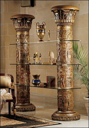 Egyptian columns furniture  Egyptian theme bedroom decorating ideas - Egyptian decor - Egyptian furniture - Egyptian Themed Home Decor - pyramid wall murals - Egyptian wall decals - Egyptian themed bedding - Egyptian throw pillows -  egyptian themed bedding set - ancient egyptian themed bedding - Egyptian Home decor ideas - Egyptian costumes - Egyptian themed lighting -  Egyptian Queen costume -  Egyptian Pharaoh Costume - Hieroglyphic posters - Egyptian themed rooms