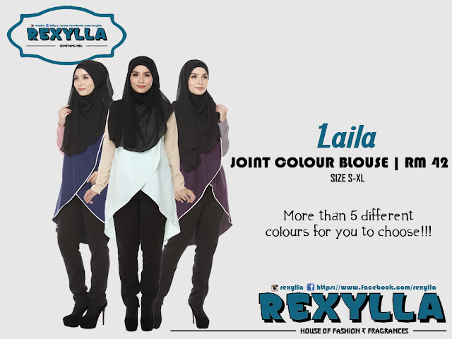 rexylla, joint colour, joint colour blouse, laila collection