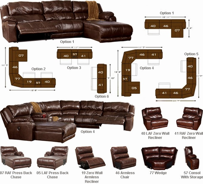 Buy Online Direct Braxton Java Sectional Review Ashley