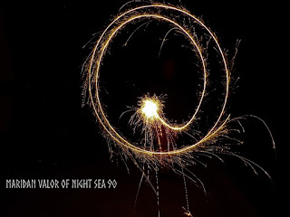 Drawing in the air; 4th of July photos; more to be seen on Night Sea 90