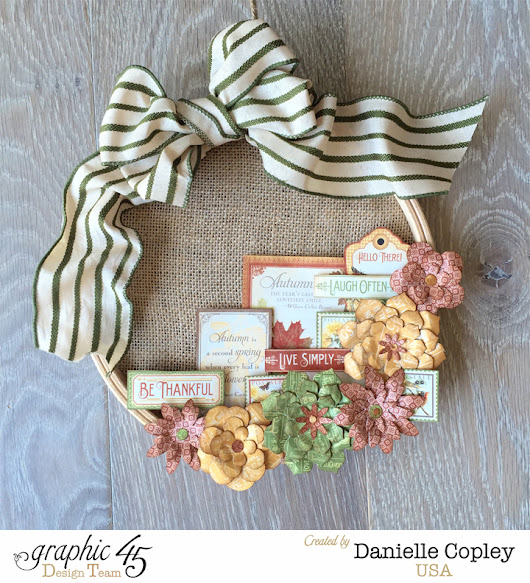 Fall Wreath Home Decor with Graphic 45