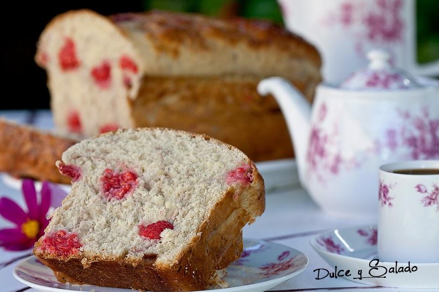 Pan de Calabacín y Frambuesas